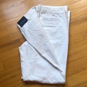 "NWT Lands' End white chino pants. Size 8 (31"" L)"